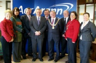aer arann celebrates 10 years at Sligo Airport
