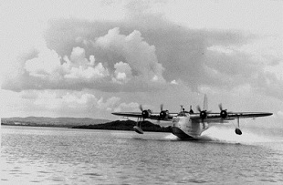 shorts sunderland landing on lough erne in 1943