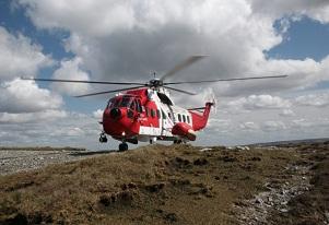 helicopter at Sligo airport